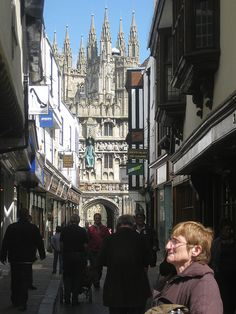 The approach to Canterbury Cathedral, Kent - UK