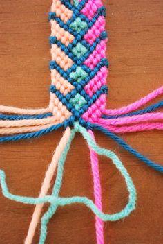 DIY Macrame yarn bracelet
