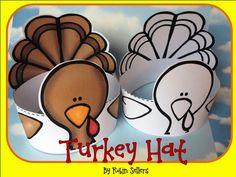 KINDERS!  printable turkey hat craft