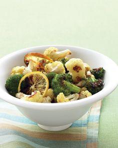 dinner, veggi, lemons, garlic, roast broccoli, food, recip, side dish, cauliflow