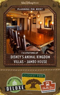 Walt Disney World Planning Pins: Disney's Animal Kingdom Villas - Jambo House