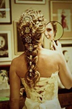french braids, long hair, princess hair, bridal hairstyles, wedding hairs
