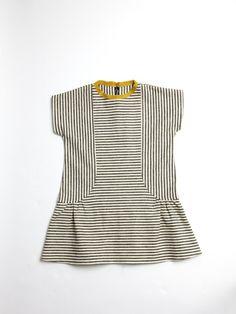 stripe mix dress.