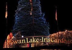 'Fantasy of Lights' drive-thru Christmas light display. Located at Swan Lake Iris Gardens, Sumter, SC. December 1-31