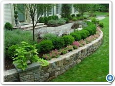 short stone retaining wall