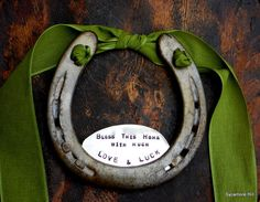 The Love and Luck Horseshoe - Traditional Symbol of Good Luck Handmade Original by Sycamore Hill