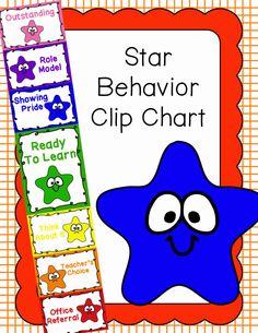 Behavior Clip Chart - Behavior Management - Stars, $