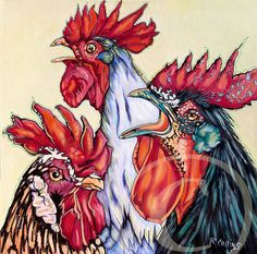 so ****love**** this:  Red Rooster's crowing    by Rose Collins
