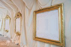 Crocker Art Museum Wedding Photos - gold framed seating chart - Sarah Maren Photographers