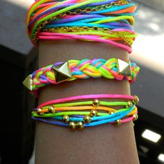Shop for the cute new neon braclet collection at shop.parisheroinstars.com :)