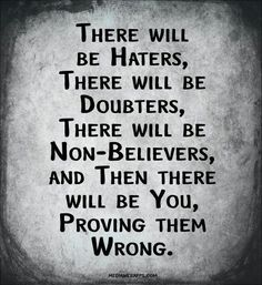 Proving them wrong