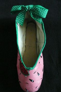 Decorative pointe shoe  watermelon by PointePerfection1 on Etsy, $15.99