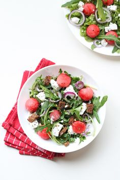 Watermelon- Goat Cheese Salad