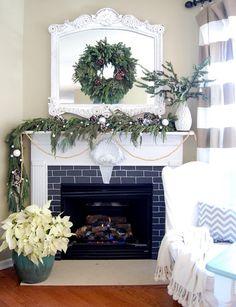 Pretty Christmas Mantel