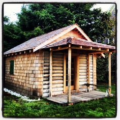 Museum of the North Beach's restored cabin once belonging to Dorothy Anderson, now located in Seabrook, WA.