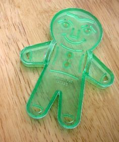 Vintage Green Gingerbread Boy Cookie Cutter.