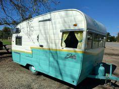 My favorite vintage trailer color scheme!