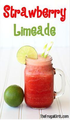 Strawberry Limeade Recipe at TheFrugalGirls.com
