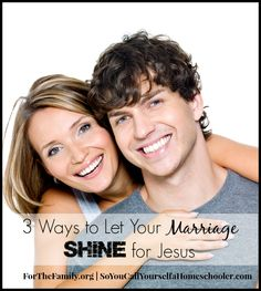 Do you want the love of God to shine through your marriage? Here are a couple of practical ideas to help you do just that!