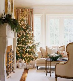 Gold and white Christmas