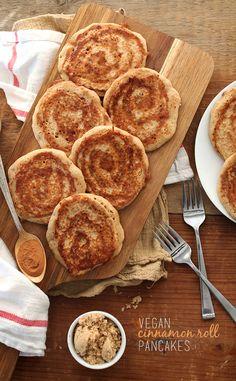 Vegan Cinnamon Roll Pancakes!
