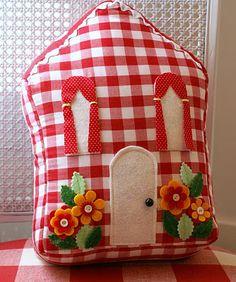 sew, kathi cottag, pillow, white design, cozy house, little houses, cottage houses, craft idea, little cottages