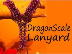 Rainbow Loom DRAGON SCALE Lanyard. Designed and loomed by Cheryl Mayberry. Click photo for YouTube tutorial. 01/06/14.