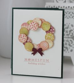 Damask Love: Homespun - love the colors and creative way to use circles