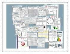 """Math Bundle Grade 3- Math Notebook Printables and Problem of the Day pack-- printables for math notebooks and 180 problem of the day questions with """"I can"""" statements written next to them.  Work great together!"""