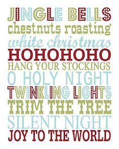 Christmas Subway Art {Printable}