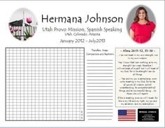 PERSONALIZED LDS Missionary Countdown Chart