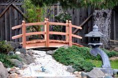 8ft Redwood Arched Bridge