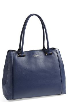 Gorgeous navy leather tote from Kate Spade.