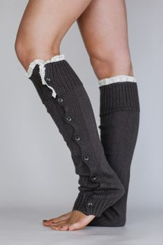 Women's Knitted Solid Body Leg Warmer or Boot by ThreeBirdNest