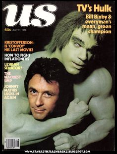 Bill Bixby and Lou Ferrigno of The Incredible Hulk TV series