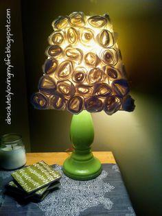Loving Life: DIY Flower Lamp Shade