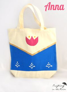 Anna and Elsa Trick-or-Treat Bags Easy DIY--so cute for Halloween! by Crafting in the Rain for Undercover Tourist