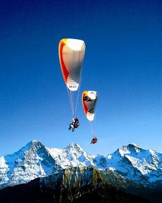 Paragliding in #Interlaken - Switzerland  Oh I would love to do this! Interlaken is one of the most beautiful places I have ever been!