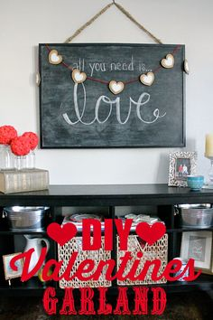 DIY Valentines Garla