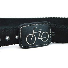 Bike Tire Belt, embroidered handmade leather, Hook Buckle