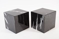negro marquina spanish marble side tables @ 1st dibs