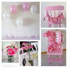 Pink Girly Budget DIY First Birthday!