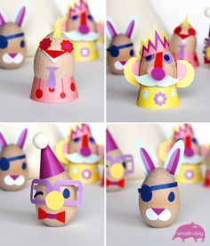 Adorable free printables for DIY Easter eggs with kids from @Marianne Tone Silveira Correa - Small for Big