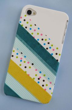 Washi Tape Phone Cover...good idea for when I get tired of my current phone case and don't want to buy a new one