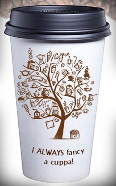 Personalized travel coffee mug. More such great gift ideas for coffee lovers here!