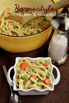 Homestyle Chicken and Noodles via Iowa Girl Eats