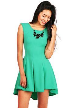 Ripple Skater Dress - Skater Dresses at http://Pinkice.com find more women fashion ideas on www.misspool.com