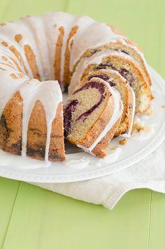 Blueberry Swirl Bundt Cake