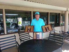 Mark Fairchilds celebrating Ladies interclub league victories at BAC Modesto