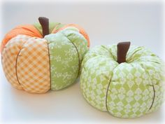 DIY Fabric Pumpkins! Get creative and make them spooky for Halloween!